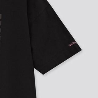 UNIQLO 优衣库 DPJMickey x Keith联名款中性纯棉圆领印花短袖T恤432976 黑色L