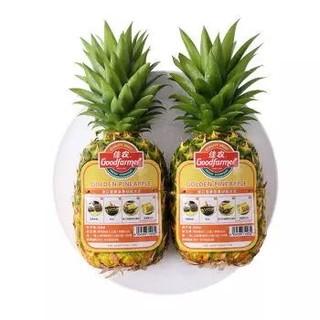 Goodfarmer 佳农 菲律宾菠萝 单果重900g~1100g 2个装 *2件
