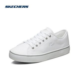 Skechers斯凯奇时尚绑带街拍帆布鞋板鞋男士小白鞋运动鞋666067 白色WHT 43 *3件