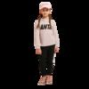 ANTA 安踏 儿童针织运动套装 A37918790 克粉色/梦幻黑