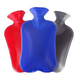 德国进口fashy暖水袋PVC 注水斜纹捂肚子热水袋女暖手宝 2L送外套