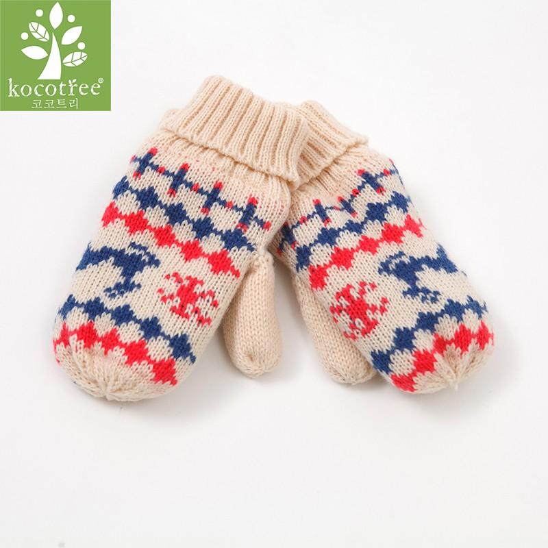 kocotree kk树 儿童加绒手套