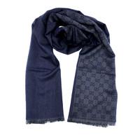 银联爆品日:GUCCI 古驰 GG字母图半网格羊毛围巾