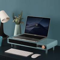 美国舒乐氏(SOLEUSAIR)电暖器/取暖器 桌面暖风机小型手暖机 办公室桌面电暖气 冷暖两用节能 蓝色