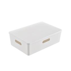 杂物零食收纳盒书本桌面护肤收纳筐厨房整理盒梳妆台化妆品储物篮 *4件