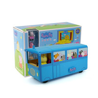 Peppa Pig 小猪佩奇 早教启蒙玩具 趣变校车(含3只公仔)