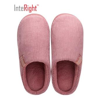 京东PLUS会员、运费券收割机:InteRight IN9031 经典家居棉拖鞋
