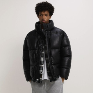 ZARA  08281333800 男装冬季仿皮棉服夹克外套