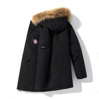 冬新款青年羽绒服加厚90%白鸭绒潮流保暖防风休闲工装外套羽绒服