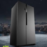 Ronshen  艾弗尔系列 BCD-592WD16HPA 变频风冷 对开门冰箱 592L 墨韵灰
