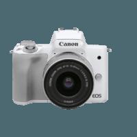 Canon 佳能 EOS系列 M50 Mark II 微单相机 (白色、单机身)