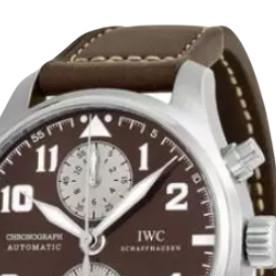 IWC 万国 飞行员系列 IW387806 男士机械手表 43mm 棕盘 棕色鳄鱼皮表带 圆形