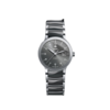 RADO 雷达 Centrix晶萃系列 R30940112 女士机械手表 28mm 黑盘 银色不锈钢陶瓷表带 圆形