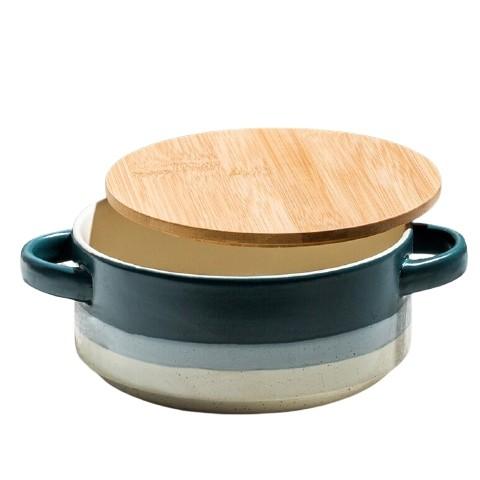 hommy 佳佰 陶瓷碗带盖深碗 6英寸