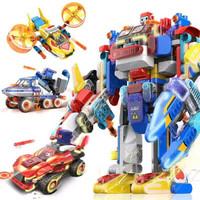 布鲁可 大颗粒积木 交通工具系列-布鲁可战队合体机器人
