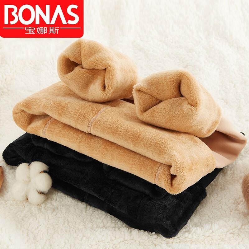 BONAS 宝娜斯 DS8308 特厚500g加绒保暖打底裤