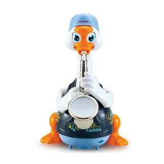 Huile TOY'S 汇乐玩具 538C 萨克斯摇摆鹅蓝色充电版 早教益智电动儿童宝宝婴儿玩具唱歌跳舞学说话六一儿童节礼物