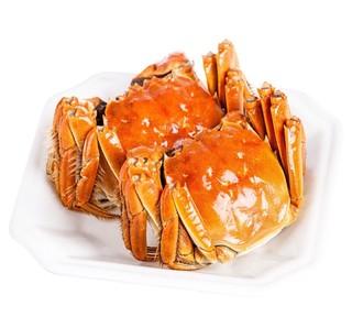 京觅 鲜活大闸蟹 公3.0-3.4两 母2.0-2.4两 3对6只