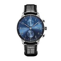 IWC 万国 葡萄牙系列 两眼计时皮带男士机械手表