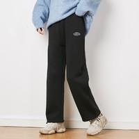 Tonlion 唐狮 62542FC0093485901 女士休闲加绒运动裤
