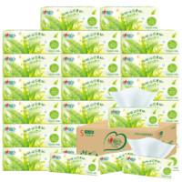 心相印茶语系列抽纸家用实惠装整箱卫生纸相应纸巾面巾纸24包s码