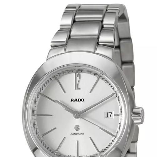 RADO 雷达 D-STAR帝星系列 R15513103 男士机械手表 38mm 银盘 银色不锈钢表带 圆形