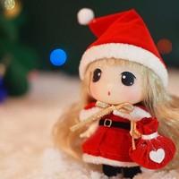 安丽莉 圣诞冬己公主迷你人偶  圣诞 帽子豪华款 9cm *2件