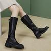 BASTO 百思图 2020冬季新款女士长靴 MD831DG0 黑色 36