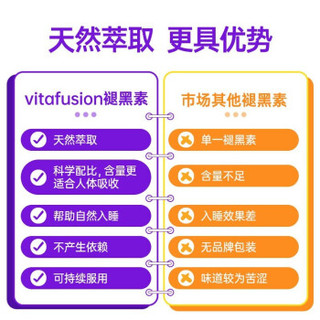 Vitafusion美国进口褪黑素sleepwell vf助睡眠软糖改善失眠倒时差60粒 褪黑素软糖1瓶/60粒