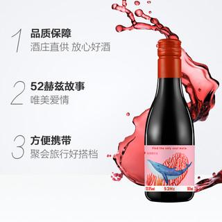 宁夏红酒类人首52赫兹干红葡萄酒网红晚安小瓶红酒187ml/瓶单支装