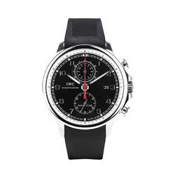 IWC 万国  葡萄牙系列 IW390210 男士机械手表 46mm 黑盘 黑色橡胶带 圆形