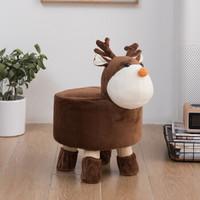 布兰格迪 卡通动物实木换鞋凳 28*28cm