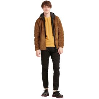 UNIQLO 优衣库 男士长绒摇粒绒拉链长袖夹克外套418712