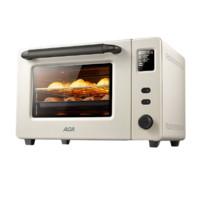 ACA烤箱家用小型电烤箱家庭多功能烘焙40升大容量全自动搪瓷E45S