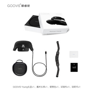 酷睿视 GOOVIS T2/Young 黑色 高清头戴显示器 TYPE C直连DP功能手机 清单页