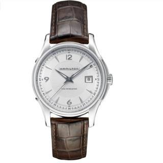 HAMILTON 汉米尔顿 爵士系列 H32515555 男士机械手表 40mm 白盘 棕色皮革表带 圆形