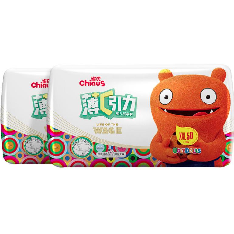 Chiaus 雀氏 雀氏(chiaus)薄+C果然裤纸尿裤尿不湿加加大号XXL32片(15kg以上)