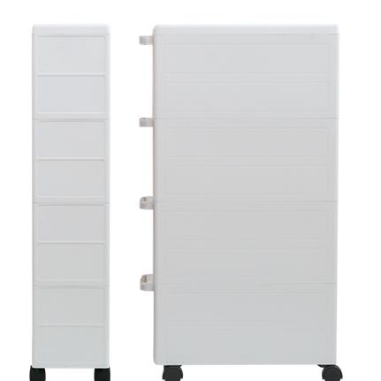 爱丽思IRIS窄型抽屉式收纳柜塑料整理柜爱丽丝冰箱夹缝角落窄柜子 2个  透明 标准款