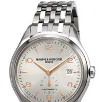 BAUME & MERCIER 名士 CLIFTON克里顿系列 MOA10141 男士机械手表 41mm 银盘 银色不锈钢带 圆形