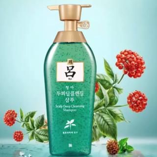 Ryo 吕 500ml*2瓶韩国进口Ryo绿吕去屑止痒洗发水清爽控油无硅油洗发露