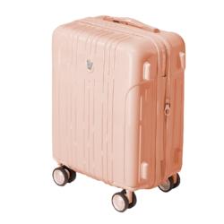 OIWAS 爱华仕 静音万向轮TSA密码锁拉链拉杆箱OCX6152 淡山茱萸粉20英寸