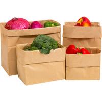 食品级牛皮纸袋冰箱纸质收纳袋ins加厚面包防油纸袋子防水橱衣柜