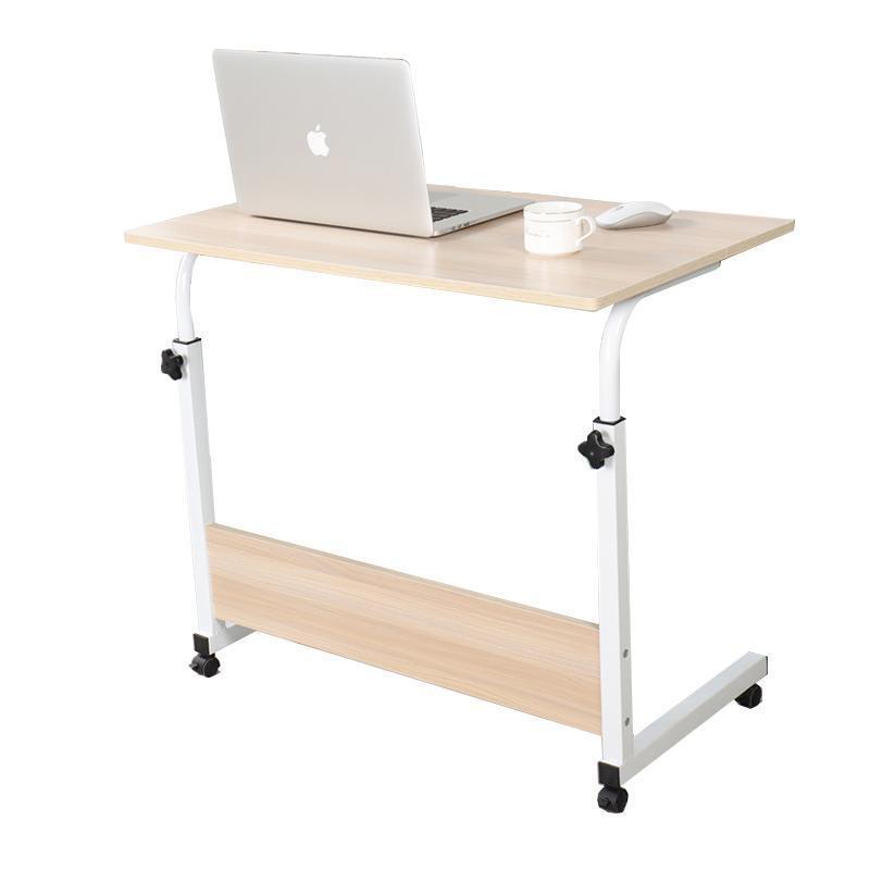 零梦 懒人可升降电脑桌 60*40cm 白枫木侧边款