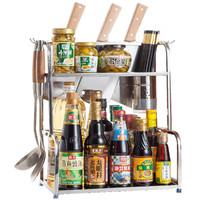 带挂钩刀架砧板架调味瓶架厨房置物架