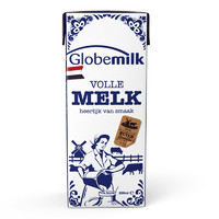 Globemilk 荷高 全脂纯牛奶 原味 200ml*24瓶