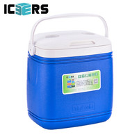 艾森斯高品質帶輪外賣PU保溫箱 藥品冷藏箱 生鮮保鮮箱16L 26L 36L 16L手提式 有溫度顯示