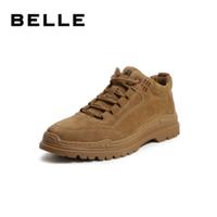 BeLLE 百丽 6VQ01DD9 男士加绒厚底老爹鞋