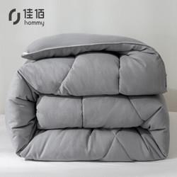 佳佰 加厚春秋被保暖被 浅灰色 200*230cm 6斤