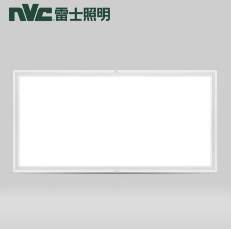 NVC Lighting 雷士照明 led吸顶灯 银边 30*60cm 暖白光 长方形 24w