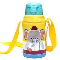 LOCK&LOCK 乐扣乐扣 LHC1435EPT 儿童保温杯带吸管 550ml 大象图案